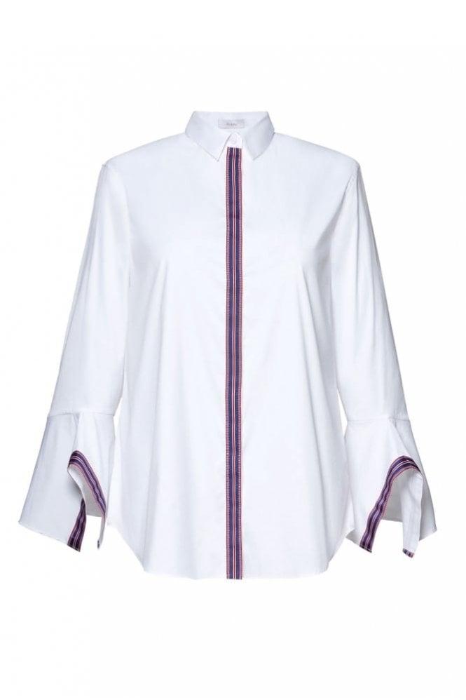 Riani White Stripe Trim Shirt
