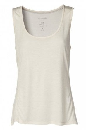 Bolette Loose Fit Vest in Soft Powder
