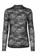 Rosemunde Delicate Lace Blouse in Black