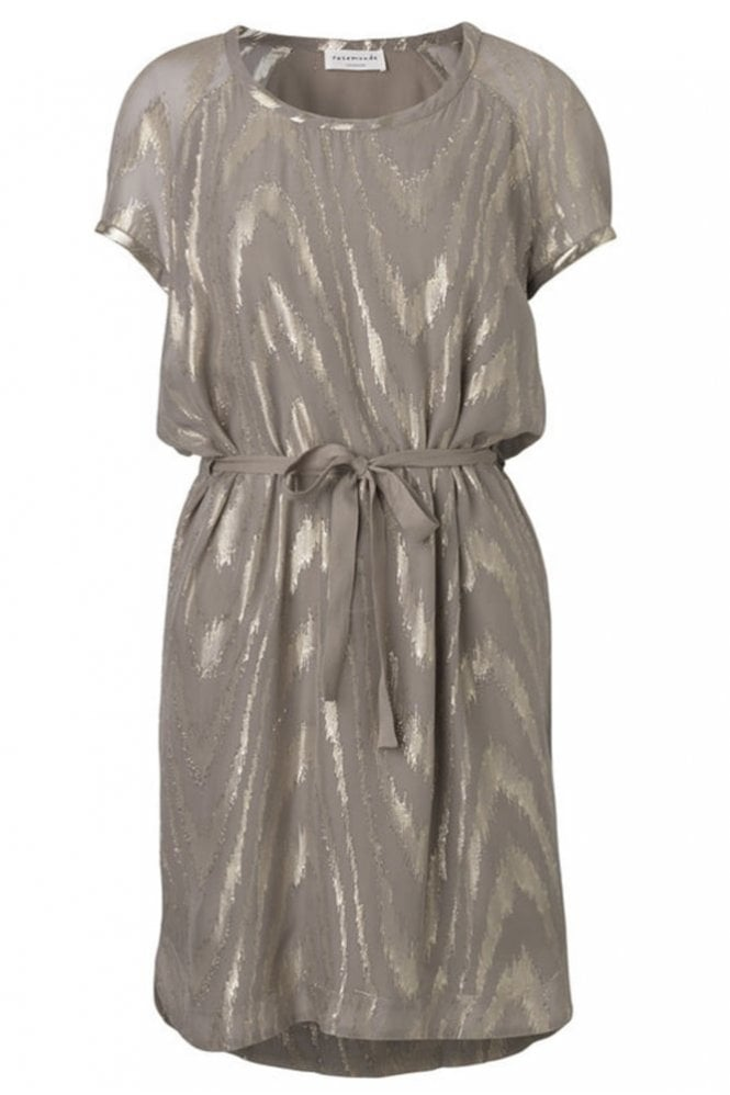 Rosemunde Driftwood Dress with Shimmer Details