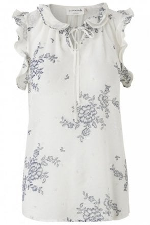 New Look Floral Print Top in Ivory Romantic Print