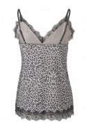 Rosemunde Simple Strap Top with Elegant Lace in Animal Atmosphere Print