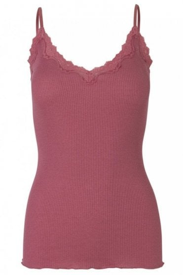 Top with Adjustable Straps in Baroque Rose
