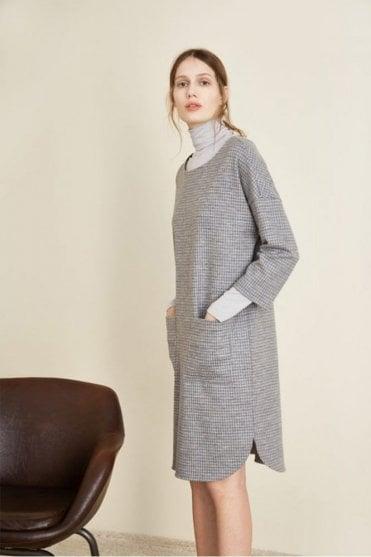 Check Dress in Grey