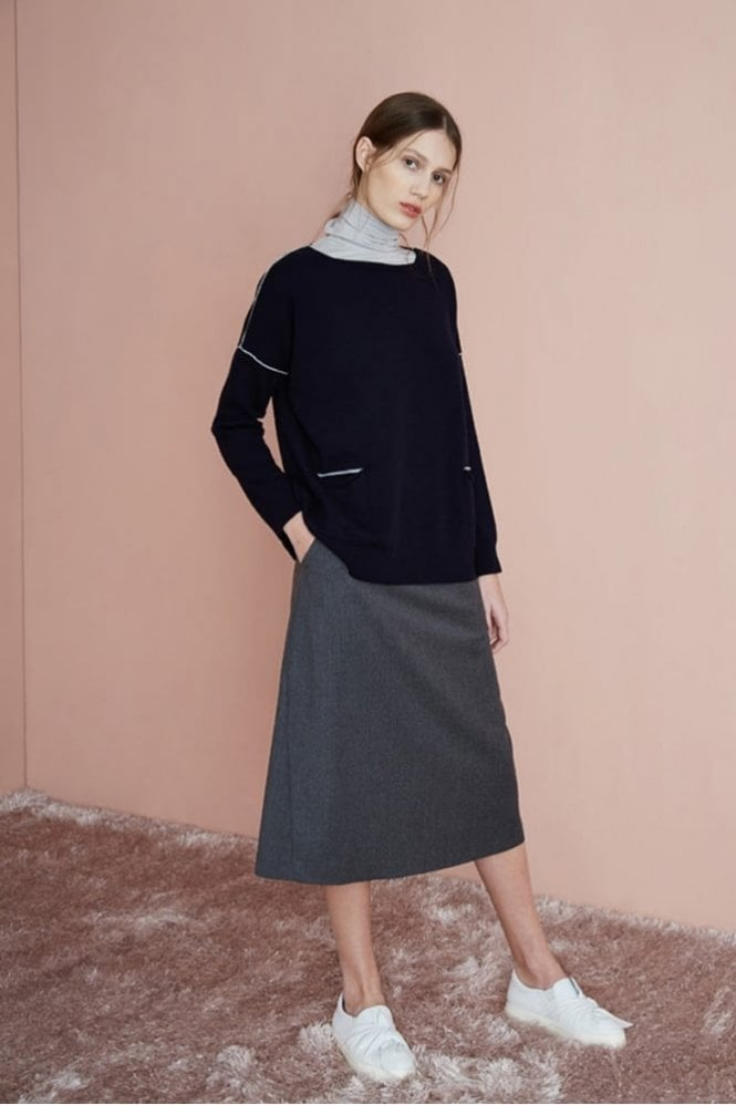 Rosso35 Contrast Trim Sweater