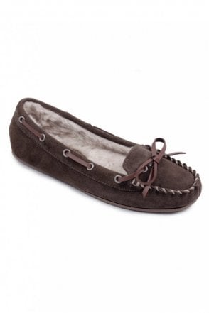 Ladies Moose Suede Moccasin