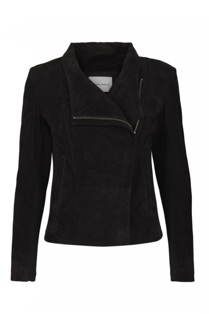 Second Female Adelaide Suede Jacket in Black