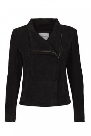 Adelaide Suede Jacket in Black