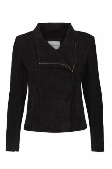 Adelaide Suede Jacket in Black