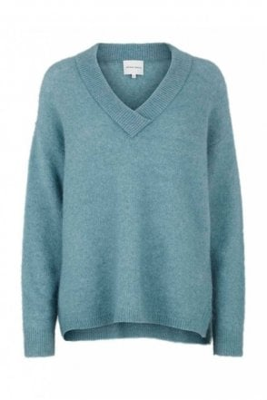 Brook Knit Deep V-Neck in Arctic