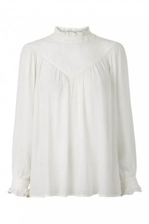 Delilah Blouse in Off White