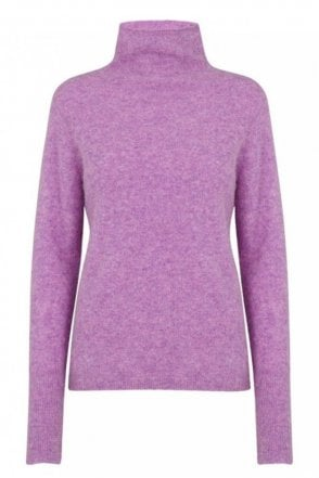 Maldiva Turtle Neck Knit in English Lavender