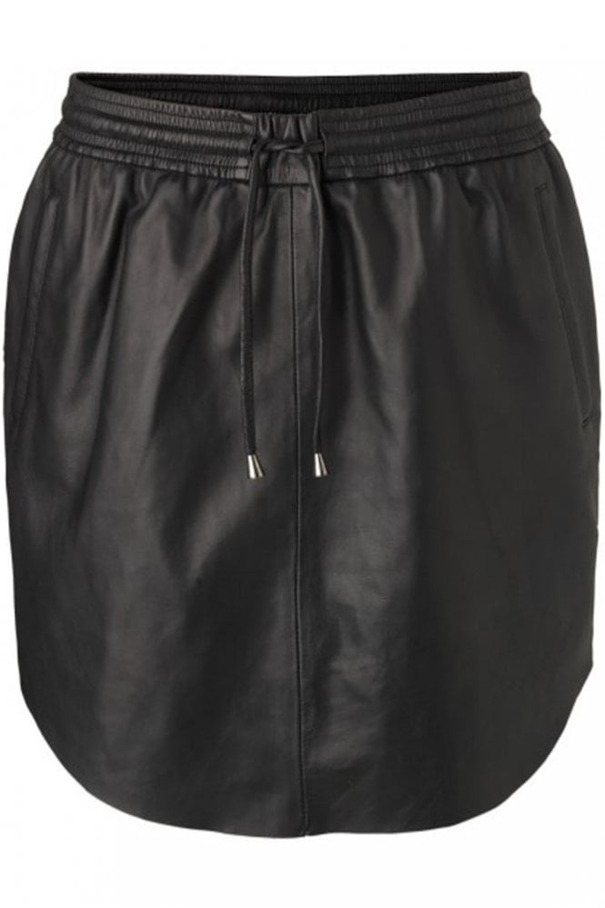 Second Female Pril Leather Skirt in Black