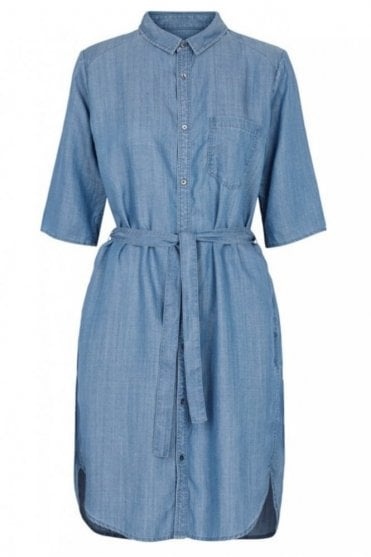 Sabra Shirt Dress in Blue Denim