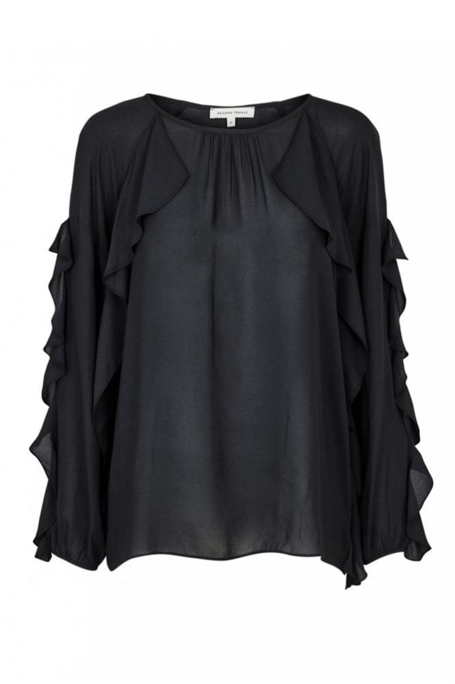 Second Female Swan Blouse in Black