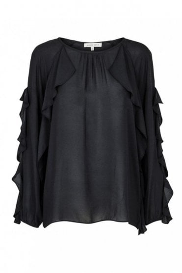 Swan Blouse in Black