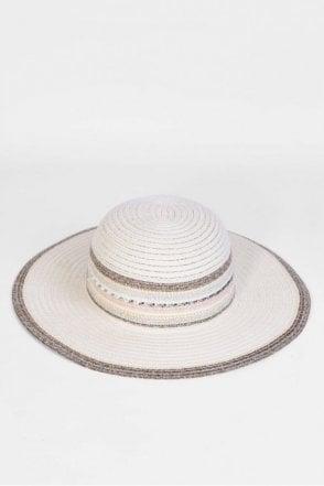 Braided Floppy Hat in Natural