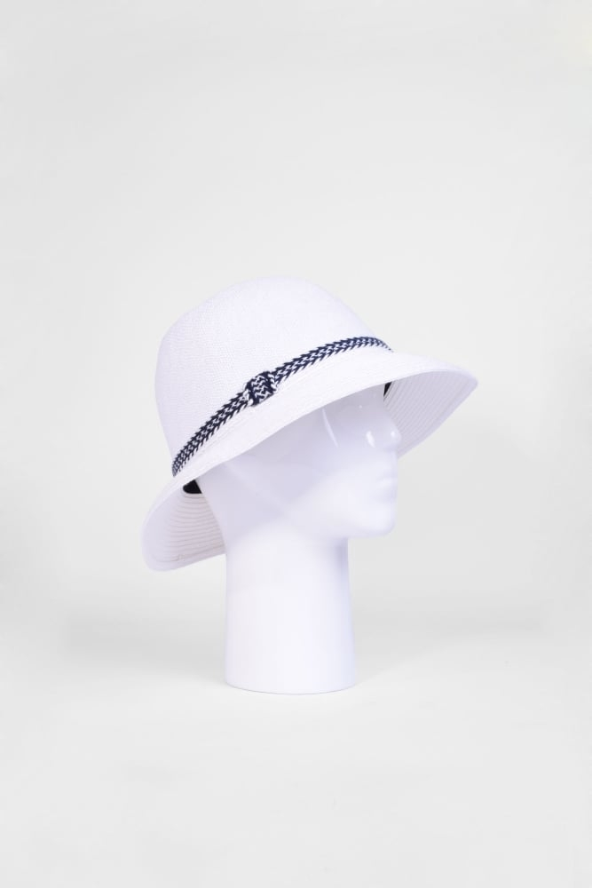 b604fc587994b Seeberger Cloche Hat with Trim in Off White at Sue Parkinson