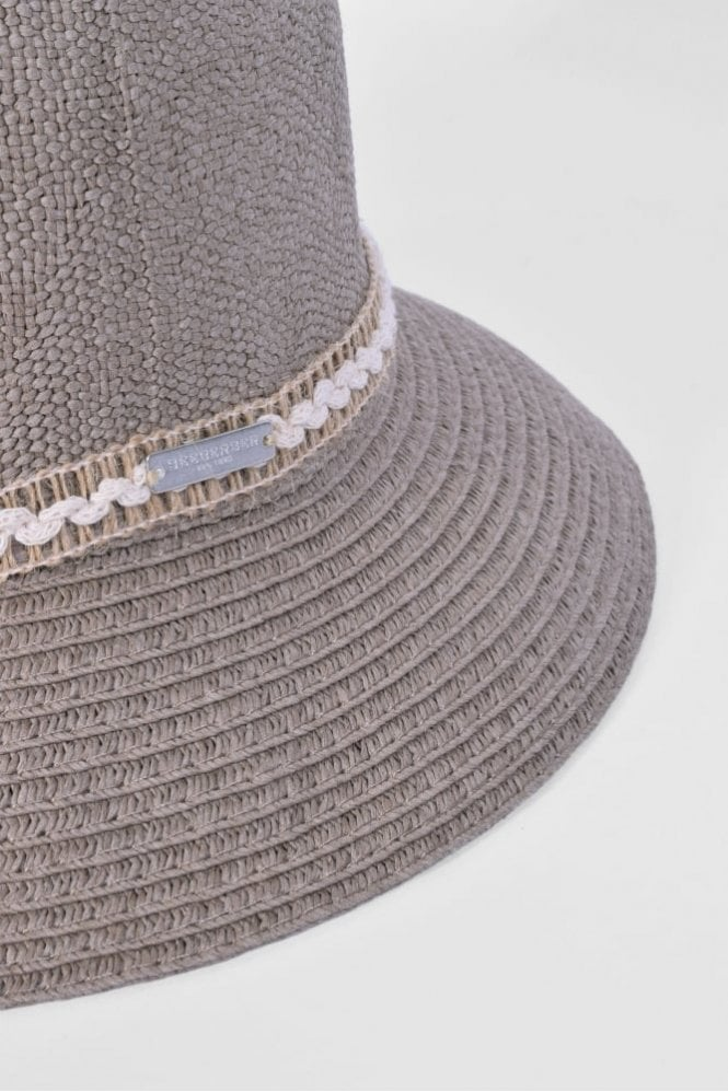 fe331f36ff374 Seeberger Cloche Hat with Trim in Taupe at Sue Parkinson