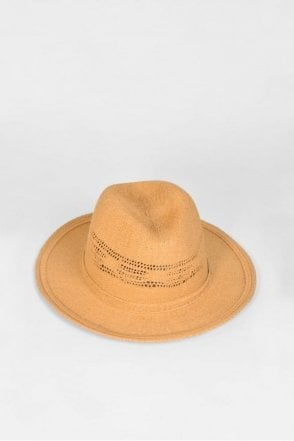 Fedora Hat with Cutouts in Sand