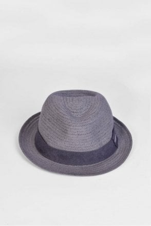 Trilby Hat with Band in Black