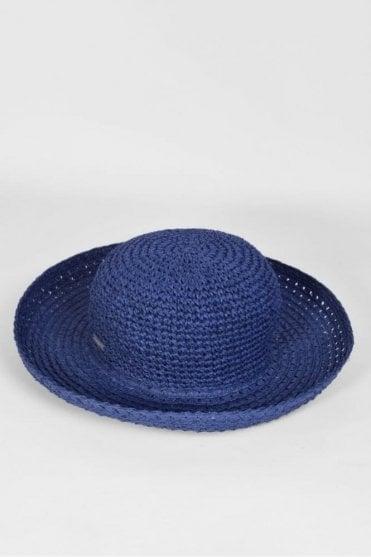 Wide Brim Hat in Ink Blue