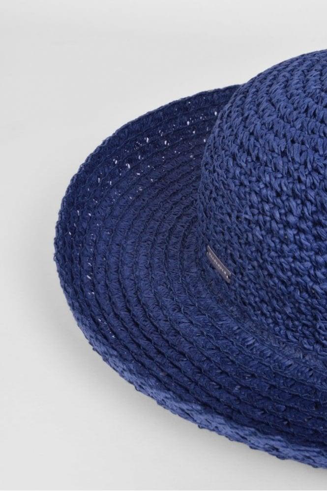 db4ef1374d65d Seeberger Wide Brim Hat in Ink Blue at Sue Parkinson