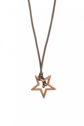 Adrenaline Star Worn Rose Gold Necklace