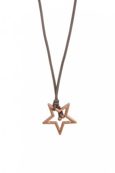 Adrenaline Star Worn Rose Gold Necklace