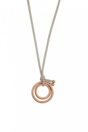 Adrenaline Worn Rose Gold Necklace