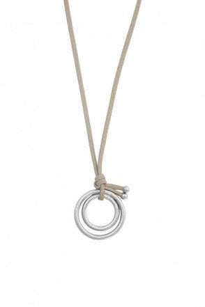 Adrenaline Worn Silver Necklace