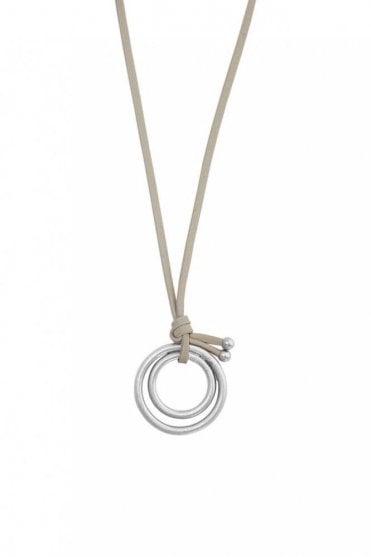 Adrenaline Worn Silver Necklace