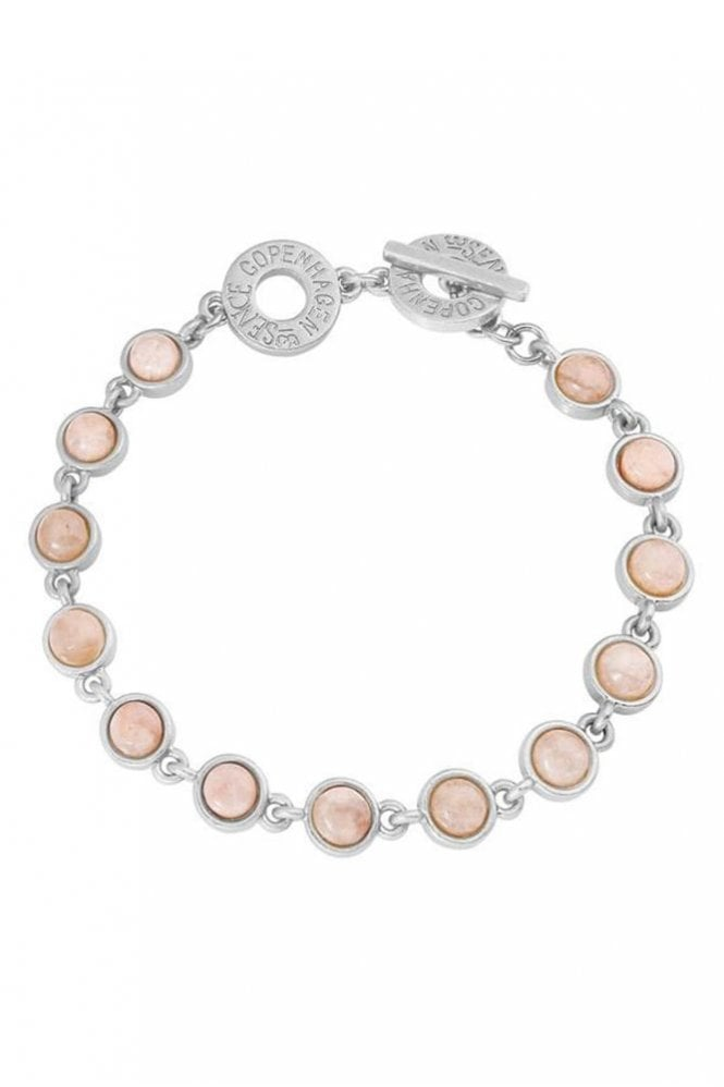Sence Copenhagen Destiny Rose Aventurine Worn Silver Bracelet