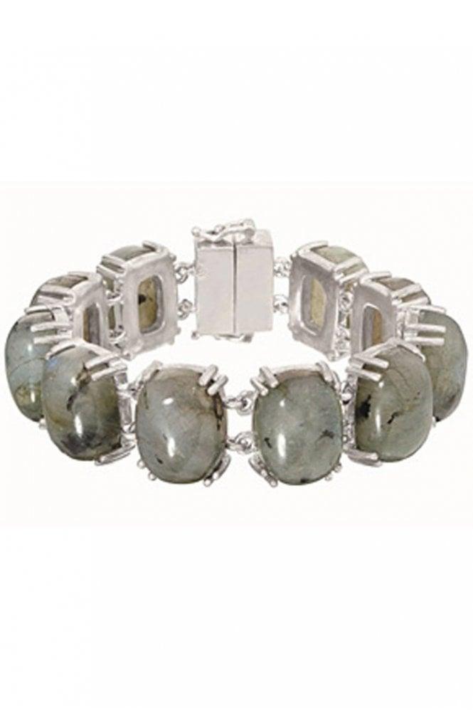 Sence Copenhagen Florence Bracelet with Labradorite in Worn Silver