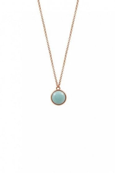 High Summer Amazonite Necklace in Worn Rose Gold
