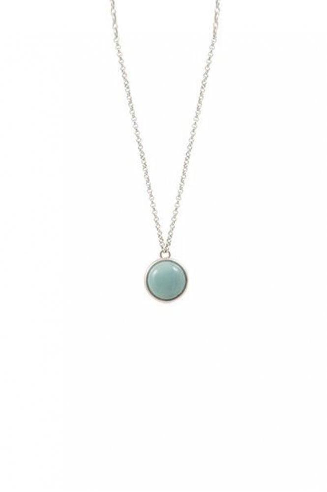 Sence Copenhagen High Summer Amazonite Necklace in Worn Silver