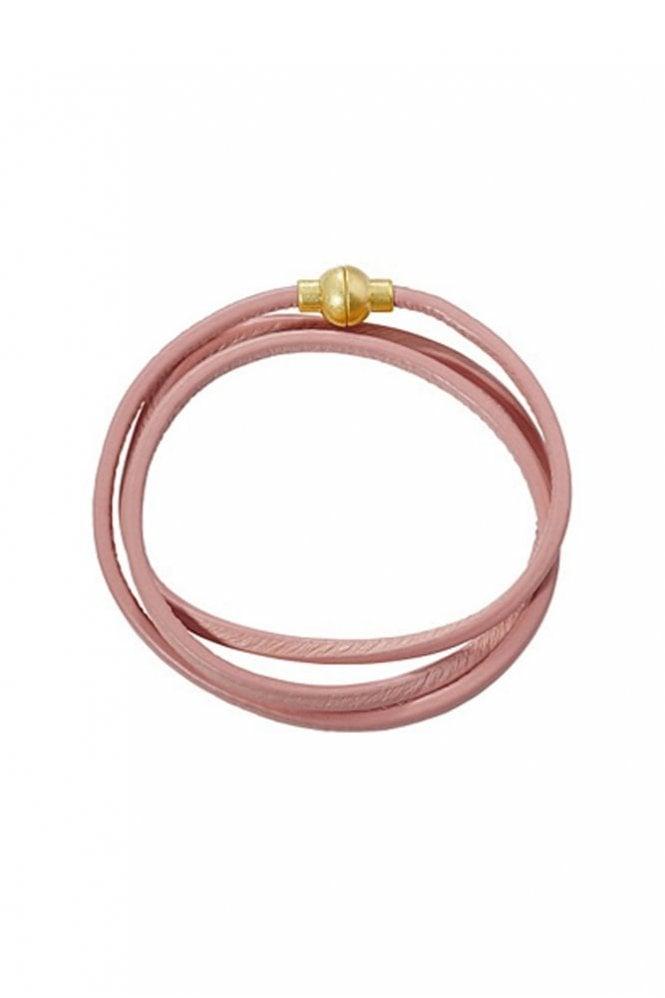 Sence Copenhagen Hippie Dusty Rose Leather Bracelet