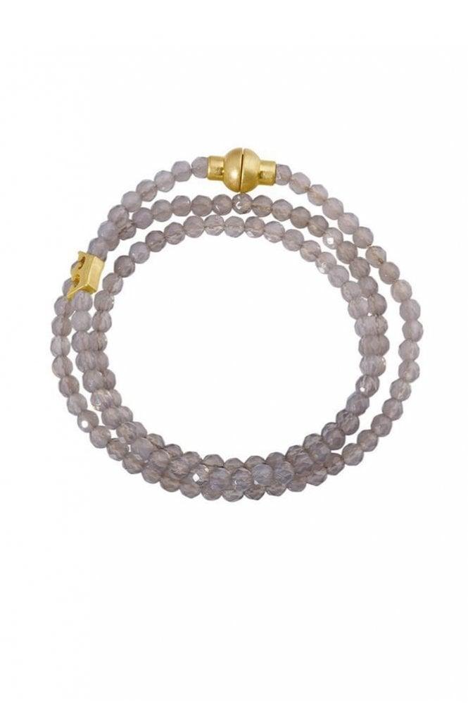 Sence Copenhagen Hippie Grey Agate Bracelet
