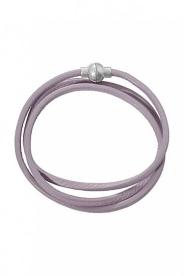 Hippie Light Grey Leather Bracelet