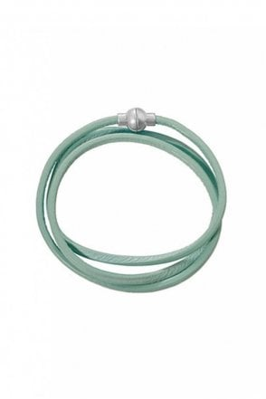 Hippie Mint Leather Bracelet