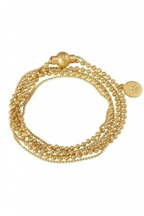 Hippie Worn Gold Bracelet