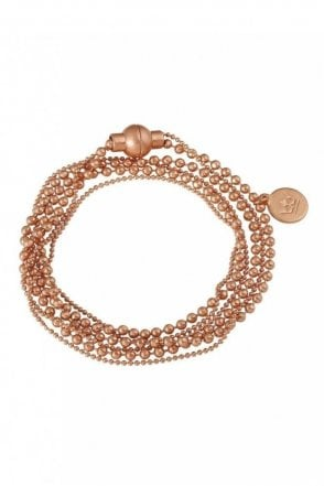 Hippie Worn Rose Gold Bracelet