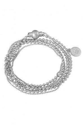 Hippie Worn Silver Bracelet