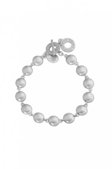 Rainbow Bracelet in Worn Silver