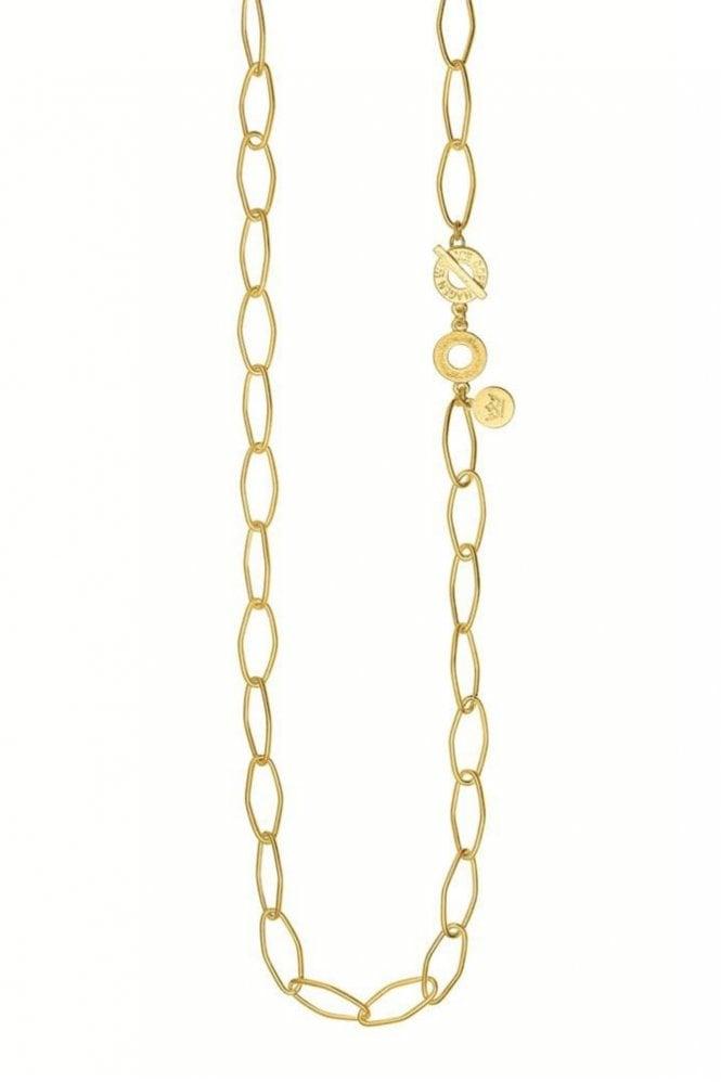 Sence Copenhagen Signature Open Chain Necklace in Worn Gold