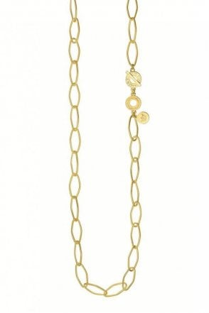 Sence Copenhagen Signature Open Chain Necklace in Worn Gold