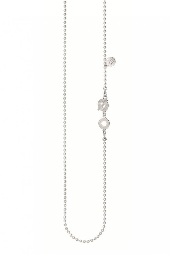 Sence Copenhagen Signature Fine Long Necklace in Worn Silver
