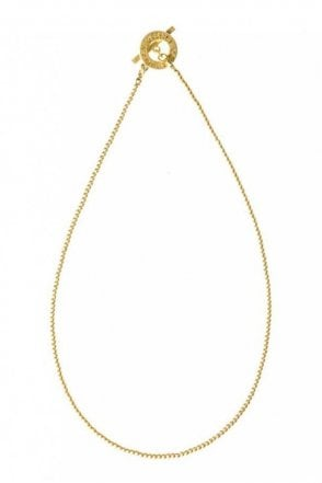 Signature Fine Worn Gold Necklace