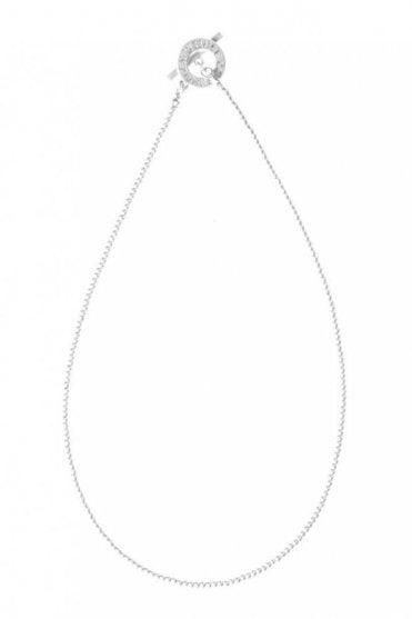 Signature Fine Worn Silver Necklace