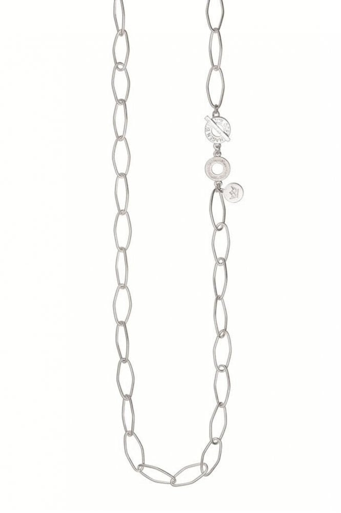 Sence Copenhagen Signature Open Chain Necklace in Worn Silver
